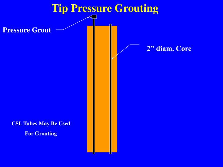 Tip Pressure Grouting