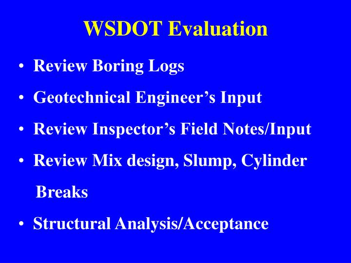 WSDOT Evaluation