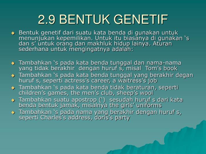 2.9 BENTUK GENETIF