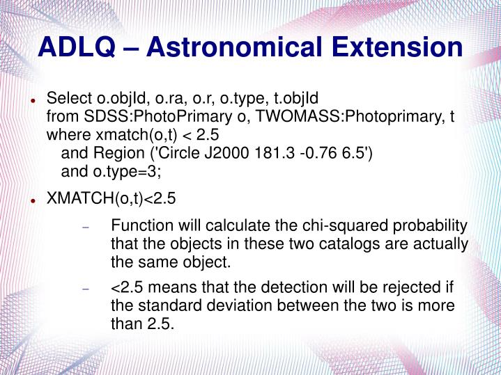 ADLQ – Astronomical Extension