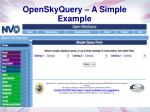 openskyquery a simple example