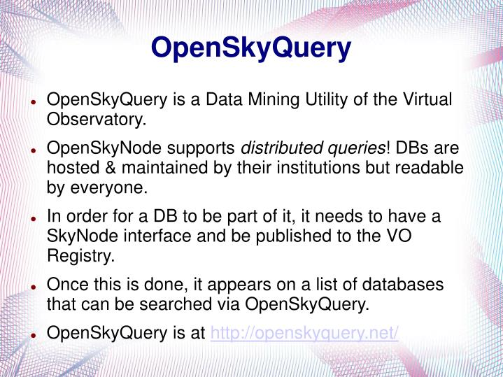OpenSkyQuery
