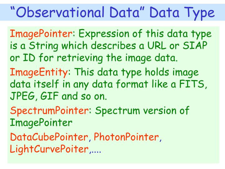 """Observational Data"" Data Type"
