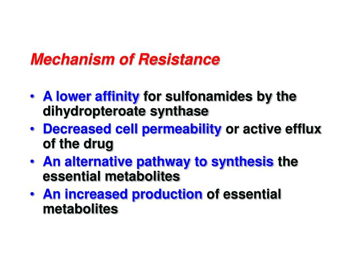 Mechanism of Resistance
