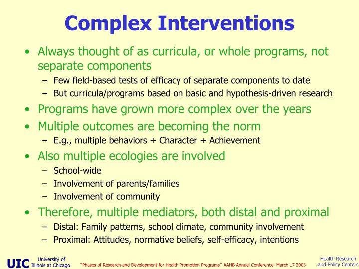 Complex Interventions