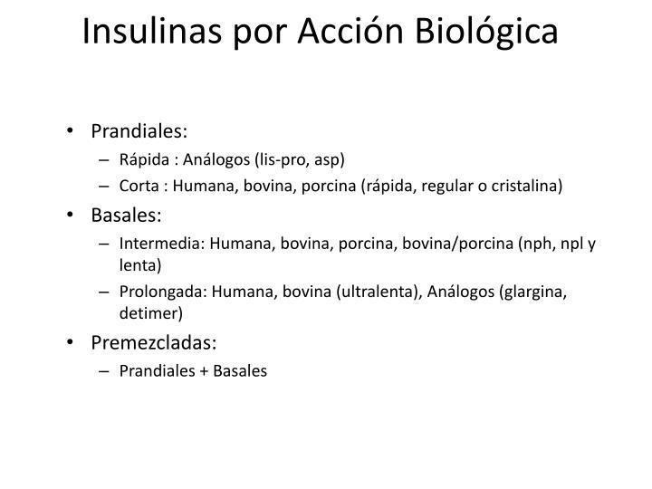 Insulinas por Acción Biológica