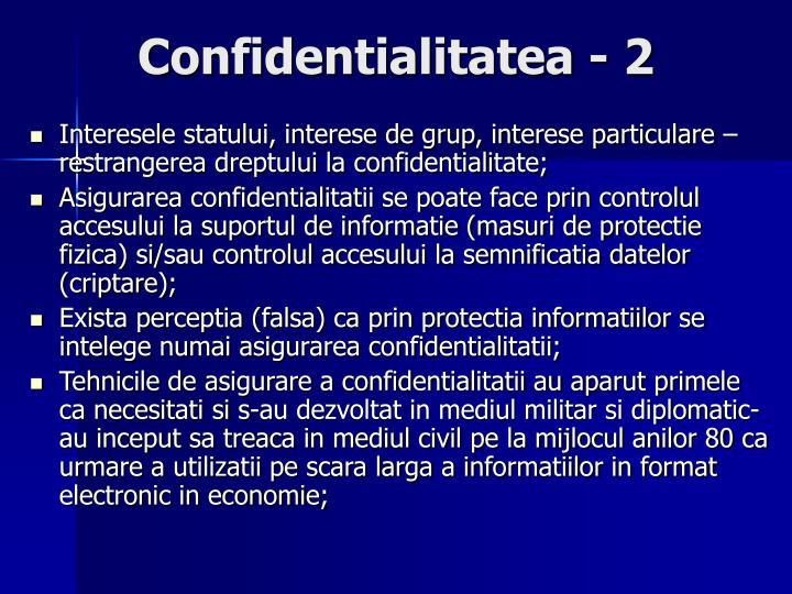 Confidentialitatea - 2