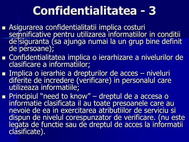 Confidentialitatea - 3