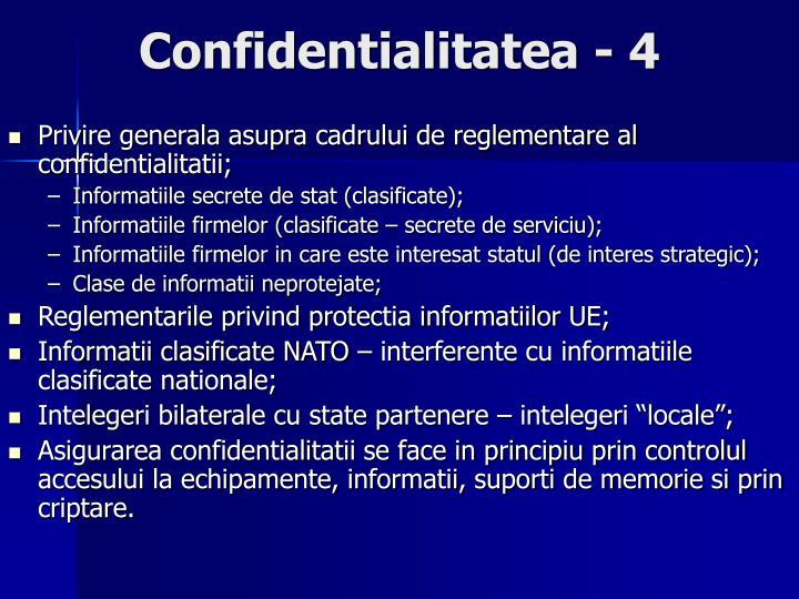 Confidentialitatea - 4