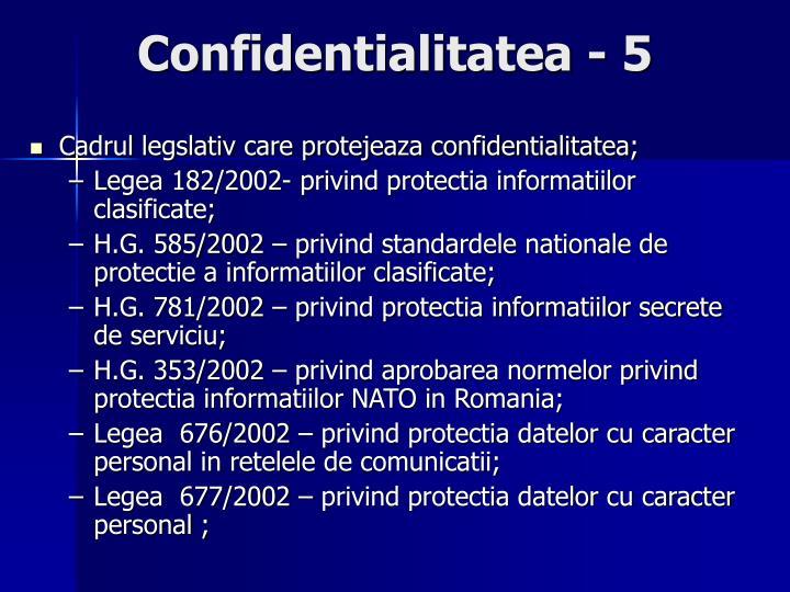 Confidentialitatea - 5