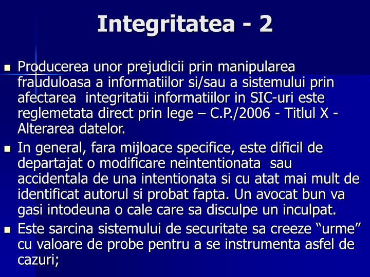 Integritatea - 2