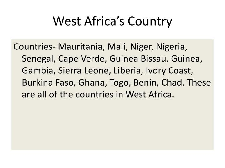 West Africa's Country