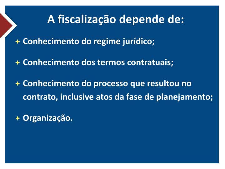 A fiscalização depende de: