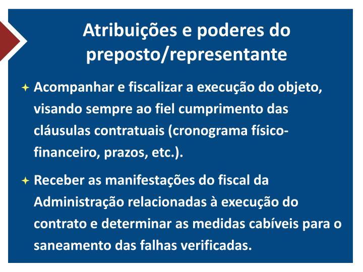 Atribuições e poderes do preposto/representante