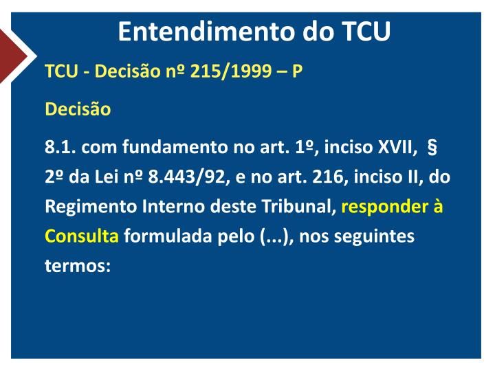 Entendimento do TCU