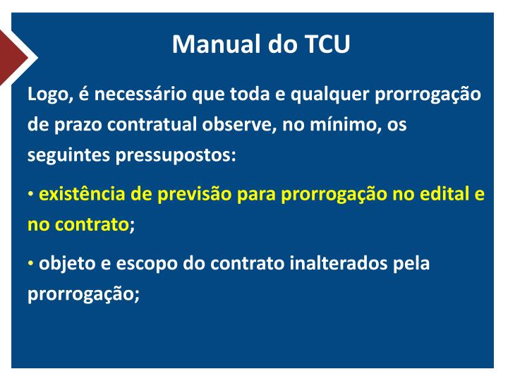 Manual do TCU
