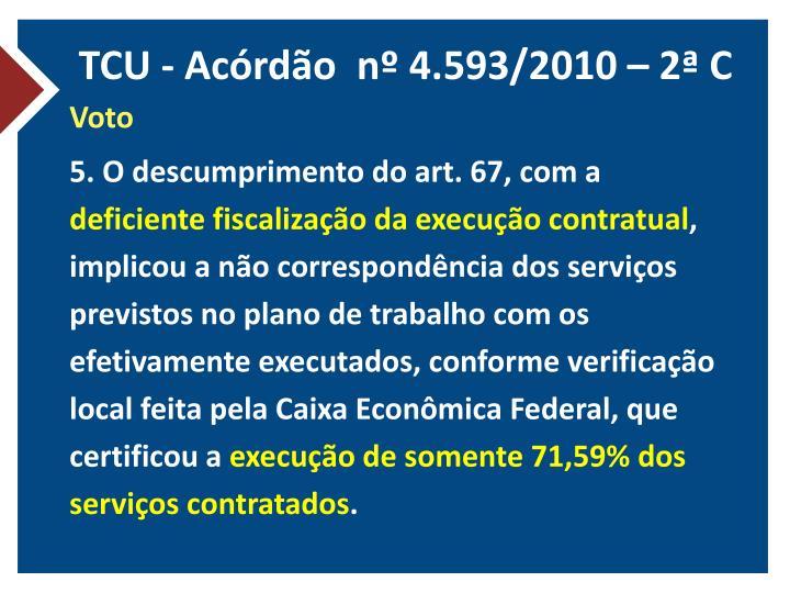 TCU - Acórdão  nº 4.593/2010 – 2ª C