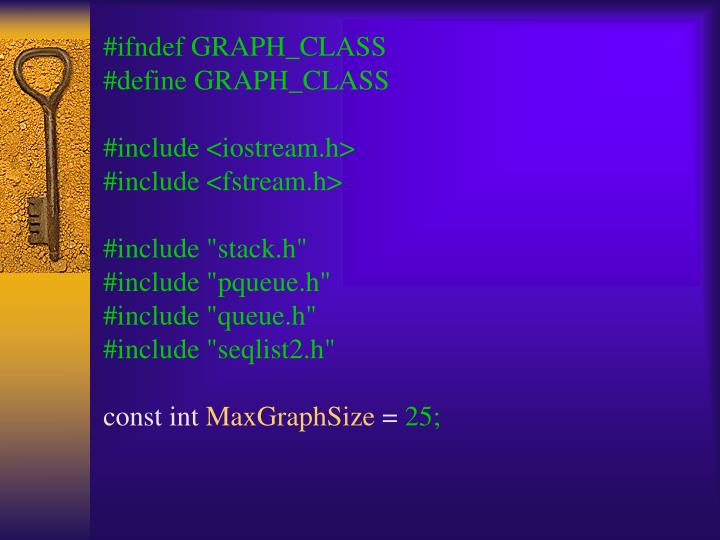 #ifndef GRAPH_CLASS