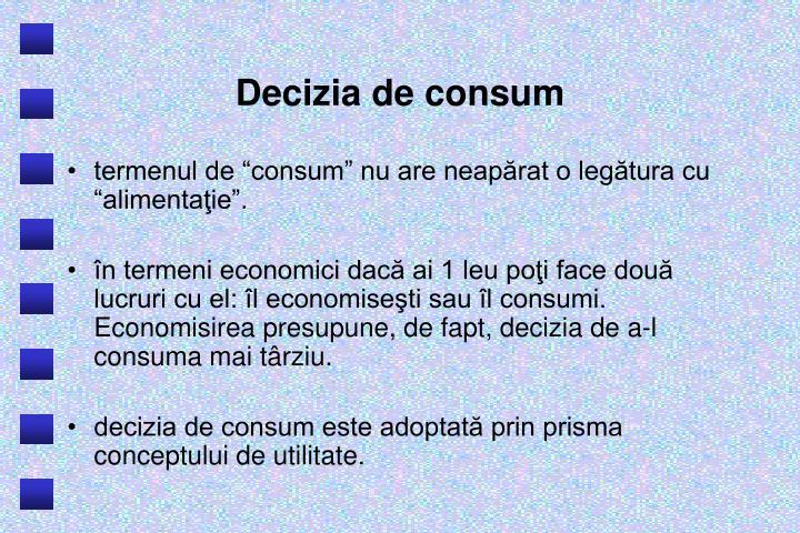 Decizia de consum