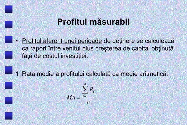 Profitul măsurabil