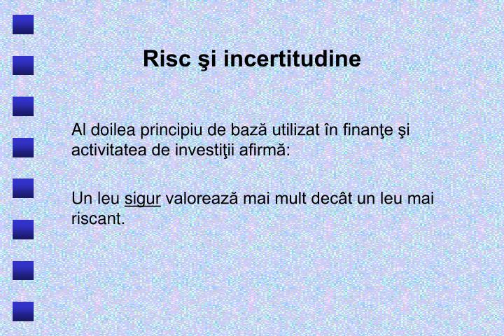 Risc i incertitudine