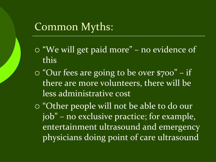 Common Myths: