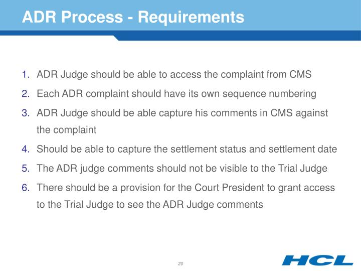 ADR Process - Requirements