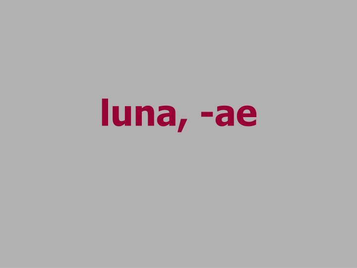 luna, -ae