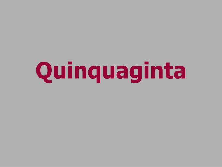 Quinquaginta