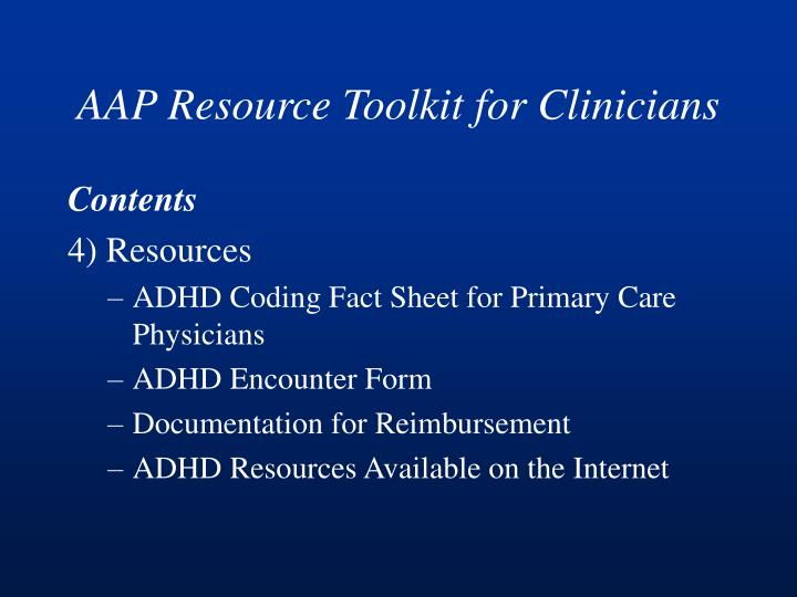AAP Resource Toolkit for Clinicians