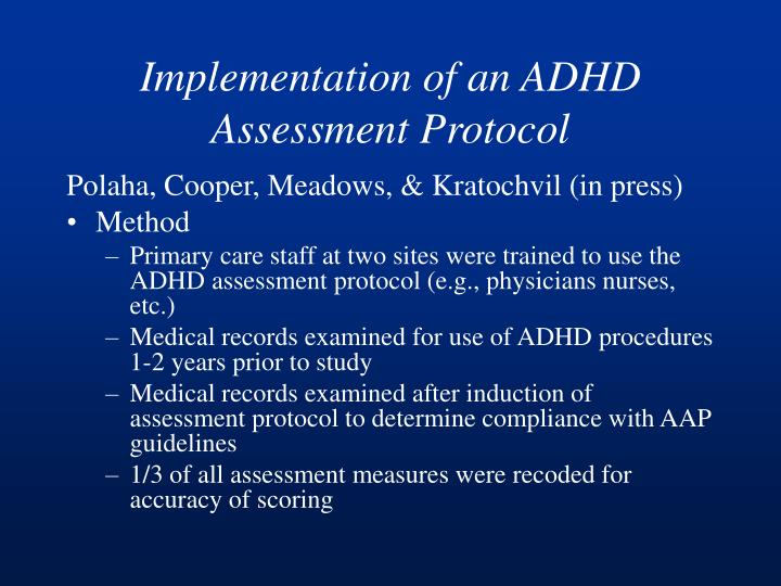 Implementation of an ADHD Assessment Protocol