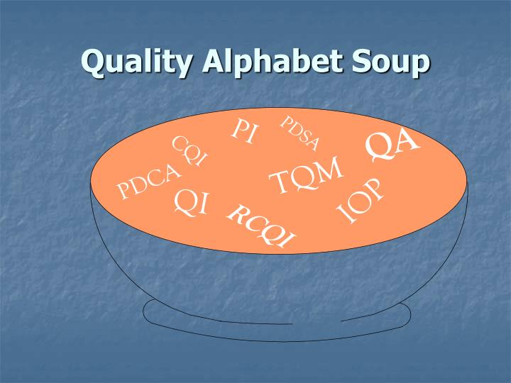 Quality Alphabet Soup