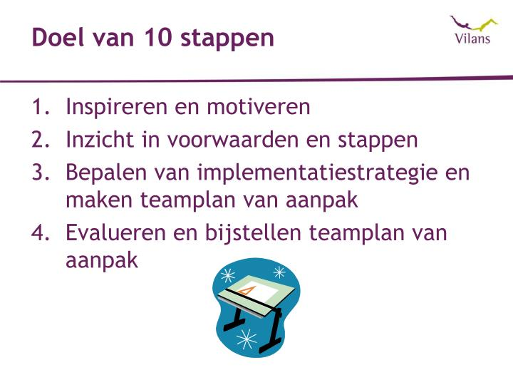 Doel van 10 stappen