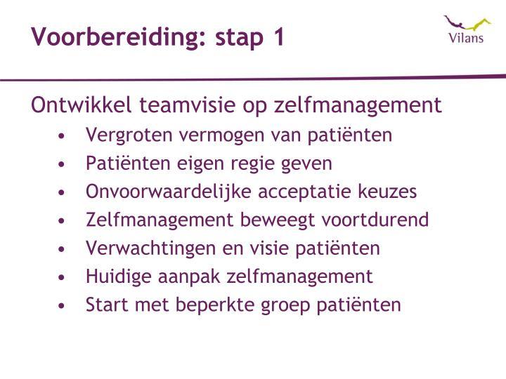 Voorbereiding: stap 1
