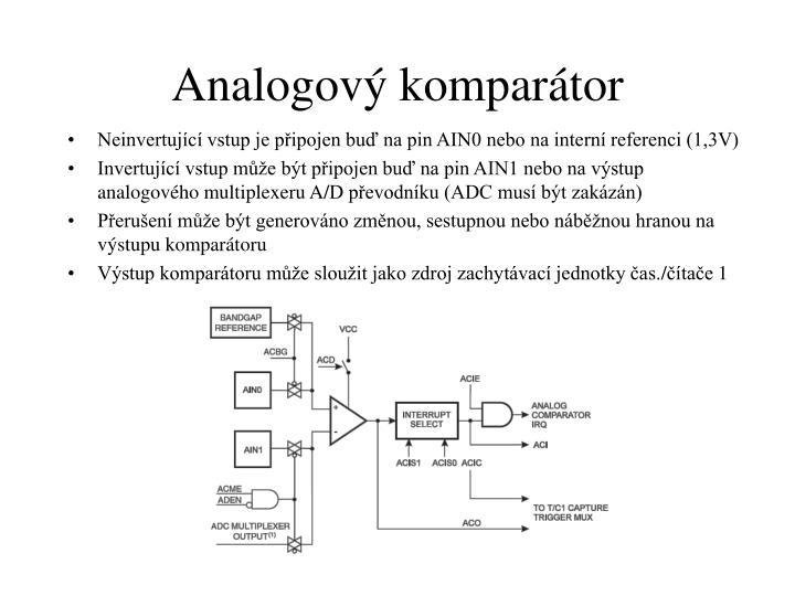 Analogový komparátor