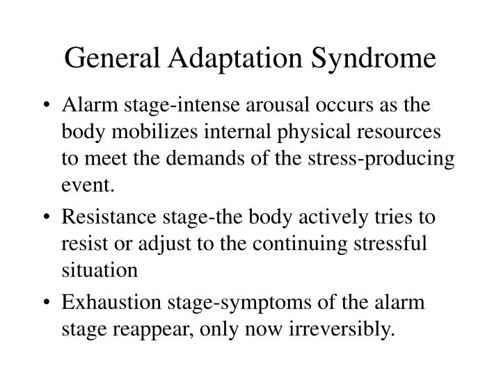 General Adaptation Syndrome