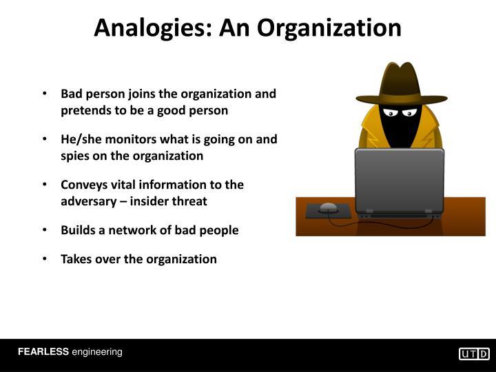 Analogies: An Organization