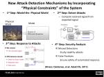 new attack detection mechanisms by incorporating physical constraints of the system