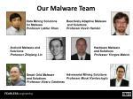 our malware team