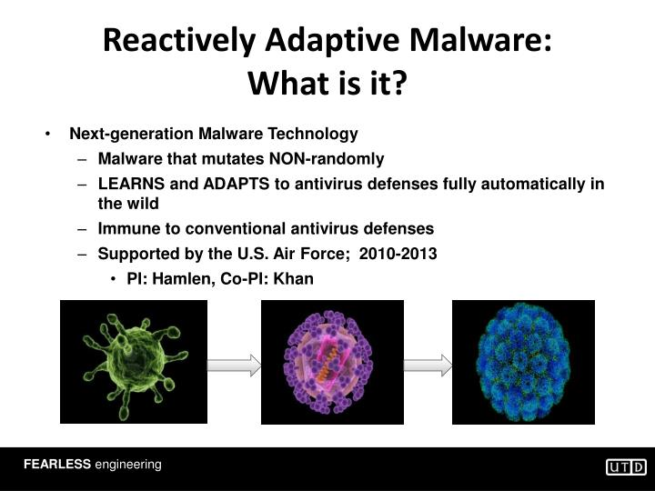 Reactively Adaptive Malware: