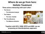 where do we go from here holistic treatment