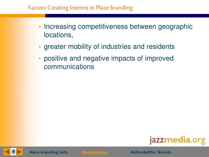 Factors Creating Interest in Place branding