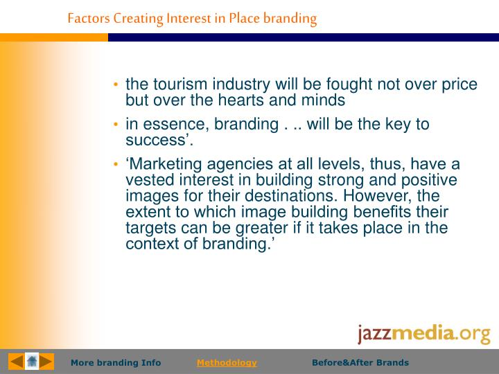 Factors Creating Interest in Place branding