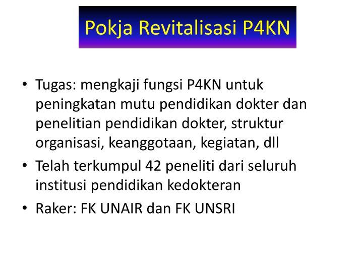 Pokja Revitalisasi P4KN