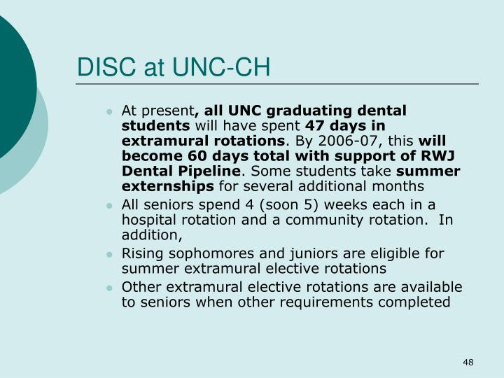 DISC at UNC-CH
