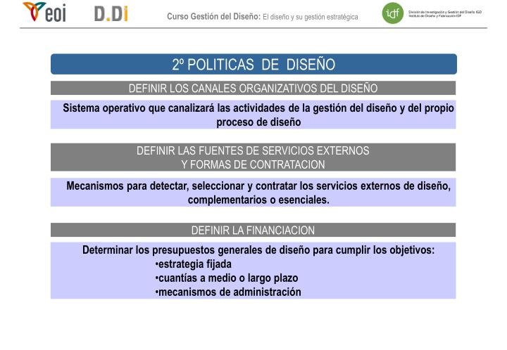 2º POLITICAS  DE  DISEÑO