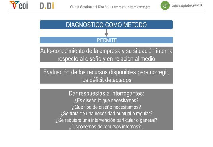 DIAGNÓSTICO COMO METODO