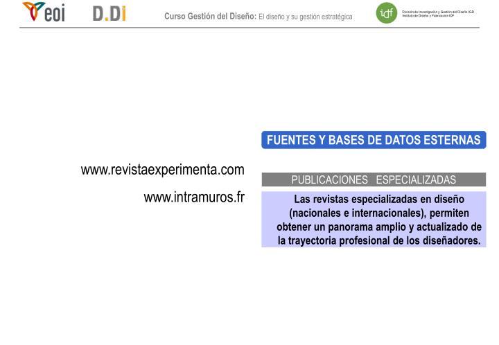 FUENTES Y BASES DE DATOS ESTERNAS