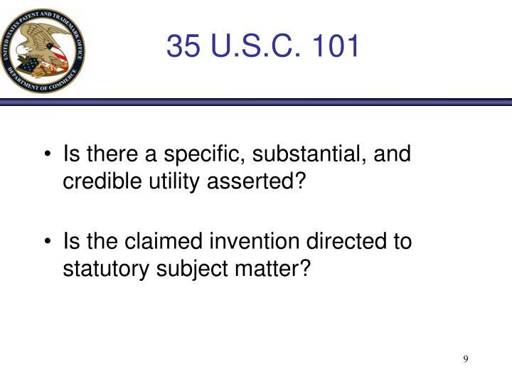 35 U.S.C. 101