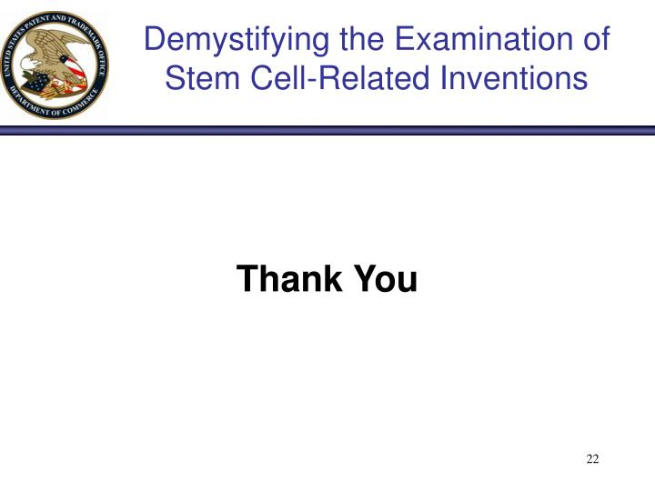 Demystifying the Examination of Stem Cell-Related Inventions